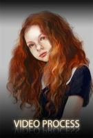 Paint with me: redheaded girl by AppleSin
