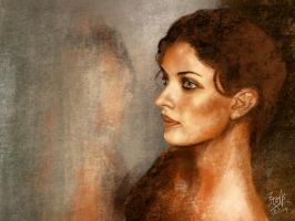 iPad finger painting p: Lady by the window by chaseroflight