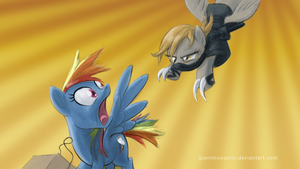 Pony ninja attack wallpaper by GiantMosquito