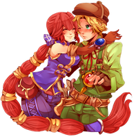 Dark Cloud 2: Max and Monica by Kurohime-29