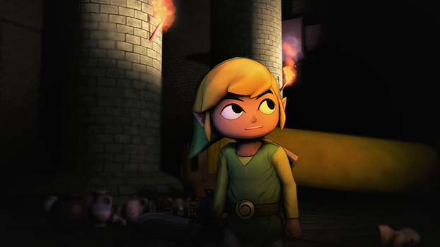 (SFM) Link Inside of a Ruins by MaxMartian