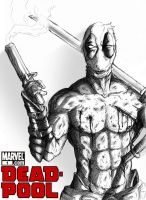 Deadpool in BW by phum0