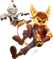 FF: Ratchet and Clank by DragginCat