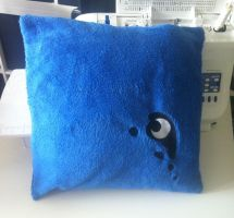 Fleece Pillow with Luna Cutie Mark Embroidery by GrayTheZebra