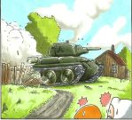 Adventute Time Finn and Tank by gmil123