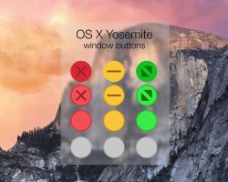 OSX Yosemite window buttons by synetcon