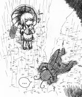 Kogasa's Rainy Reports~! 03 by leafprojector