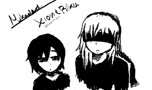 Xion and Riku by PassionsNamine