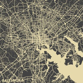 Baltimore by MapMapMaps