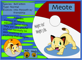 Fakemon - Meote by RocketMeowth