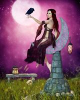 The Mystic Allure of Raven and Moon by RavenMoonDesigns