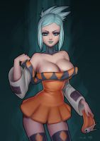 Cerebella (skullgirls fanart) by essentialsquid