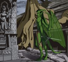 Gargoyle colored by ralloonx
