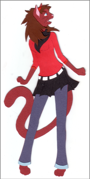 Cardstock Cutouts- Megz by chaoticdreamer