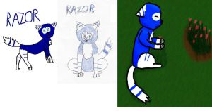 Old Character Auction: Razor OPEN by Who-Butt