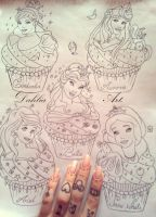 New project: Disney Princess Cupcake by LadySayuri