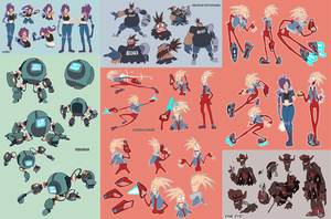 Monkey Wrench Character concepts by Zeurel