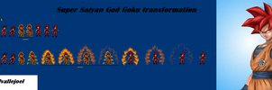 Super Saiyan God Goku Transformation by delvallejoel