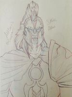 Ares banner sketch by Maroonz80