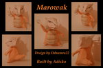 Marowak Paper Pokemon by Adisko