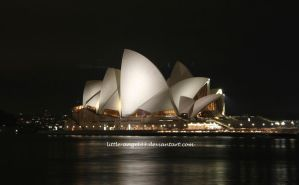 Sydney Opera House at Night by Little-Angel33