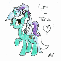 Lyra and Tootise by TallaFerroXIV