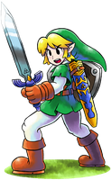 ''Mario+Luigi'' RPG Style: Link (Legend of Zelda) by Master-Rainbow