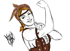 Aveline Can Do It!! by minktee