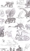 Toothless doodles by little-ampharos