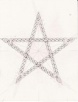 first attempt at celtic knotwork. rough sketch... by paulwreed