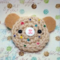 Amigurumi rainbow cookie bear by amigurumikingdom