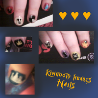 Kingdom Hearts Nails by lex-TC