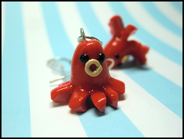 Octo-Sausage Earrings by GrandmaThunderpants