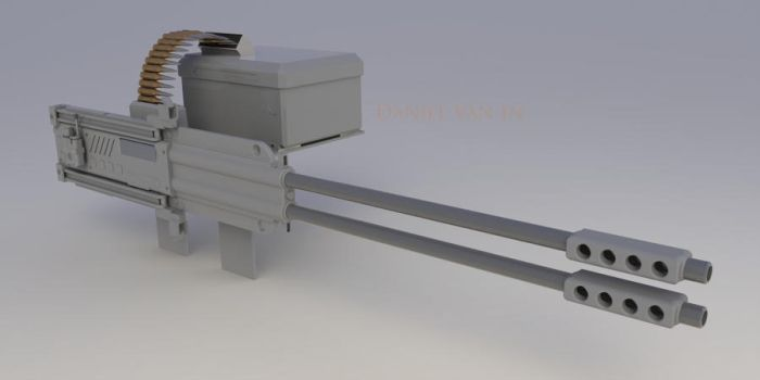 Twin Linked Machine Gun FR by Quesocito