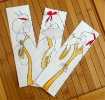 Geisha Bookmarks by PalletsArt