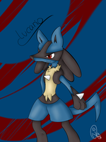 Lucario by OhLilyLover