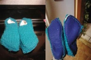 Lined Knit Slippers by ValentineRevenge