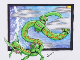 Rayquaza: Lord of the Storm by Loekazz