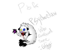P is for Psychoclaw who swallowed some glass by iW-O-L-F