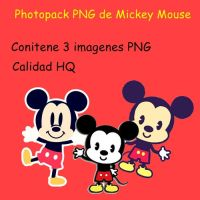 Photopack PNG de Mickey Mouse by MaguiEditionsLove