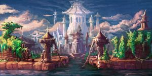 Illusory town by Larbesta