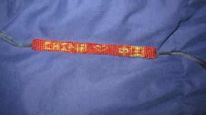 Completed CHN pride bracelet commission 2 by Arachnoid