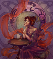 Alfons Mucha's girl by sparrow-chan