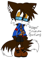 :RQ: Roger Inuzuka sonic style flat color by tailsfan1996