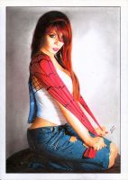 Mary Jane Watson Parker - J Scott Campbell Statue by TimGrayson