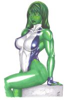 "SHE HULK ""Copic Markers"" by daikkenaurora"