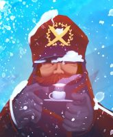 Happiness is a warm cup of coffee in a blizzard by chaetoceros
