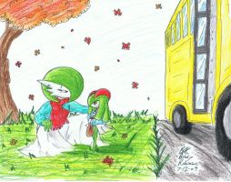 First Day at The Bus Stop by RavarokJudge