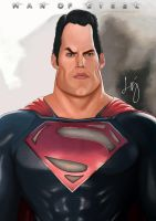 Man of Steel (DC) Superman - Caricature by veryveryluckyman