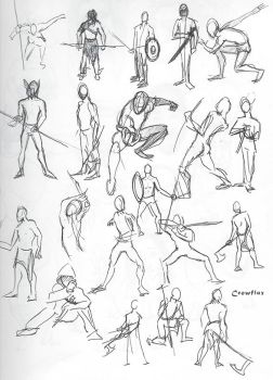 figure sketches 01 by Crowflux